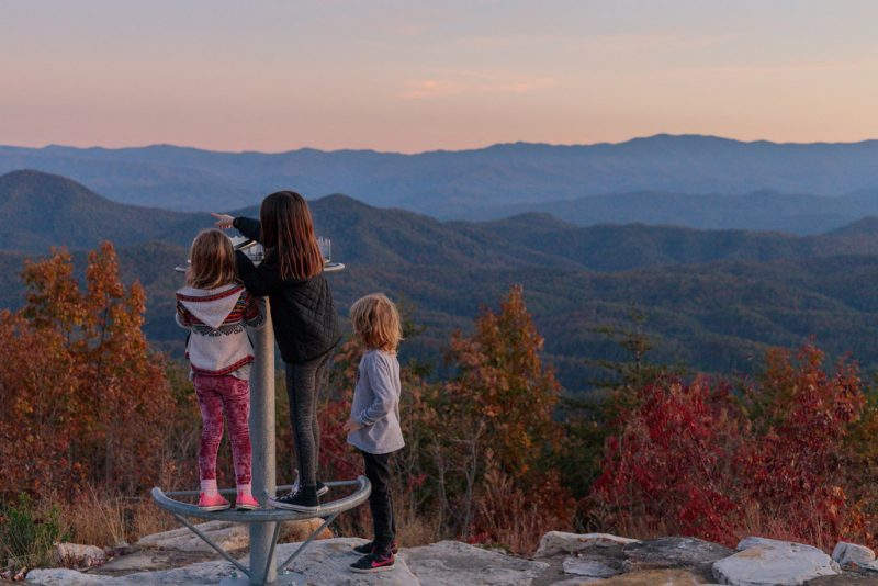 Blackberry Mountain, fall with kids