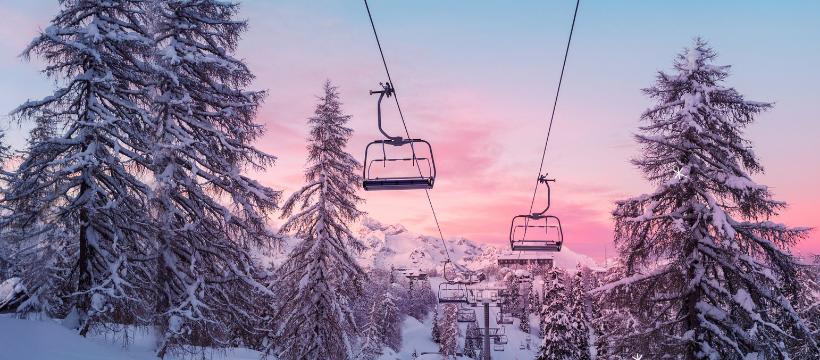Ski Lift Sunset