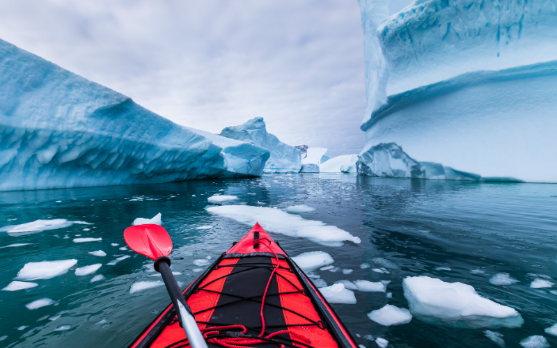 Kayaking Antrarctica