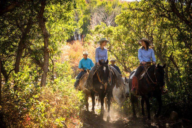 lodge at blue sky horseback riding