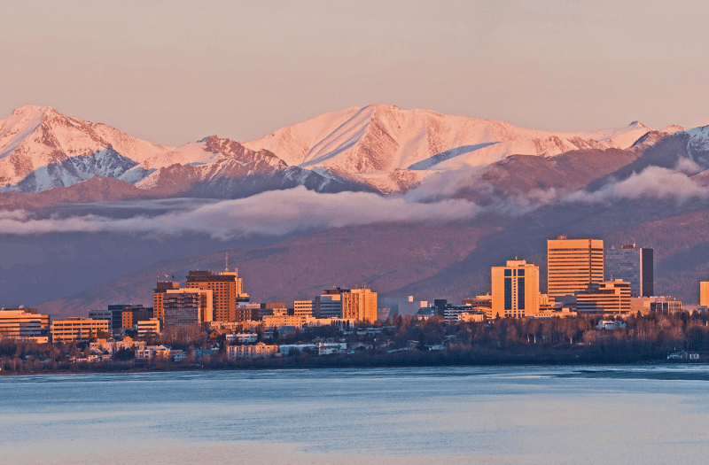 Anchorage Alaska Sunset