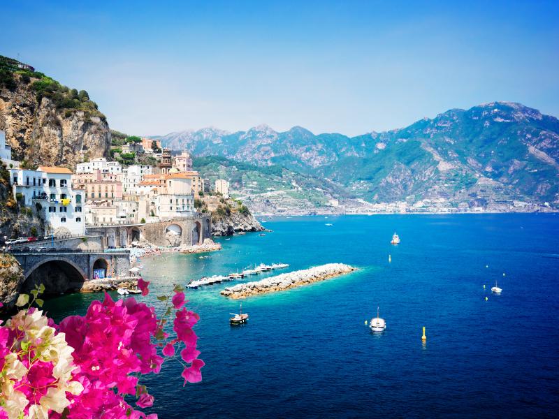 Amalfi coast on cruise