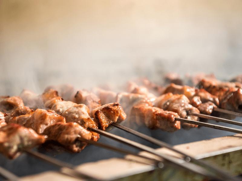 Souvlaki Traditional Greek Cuisine (Skewered Pork)