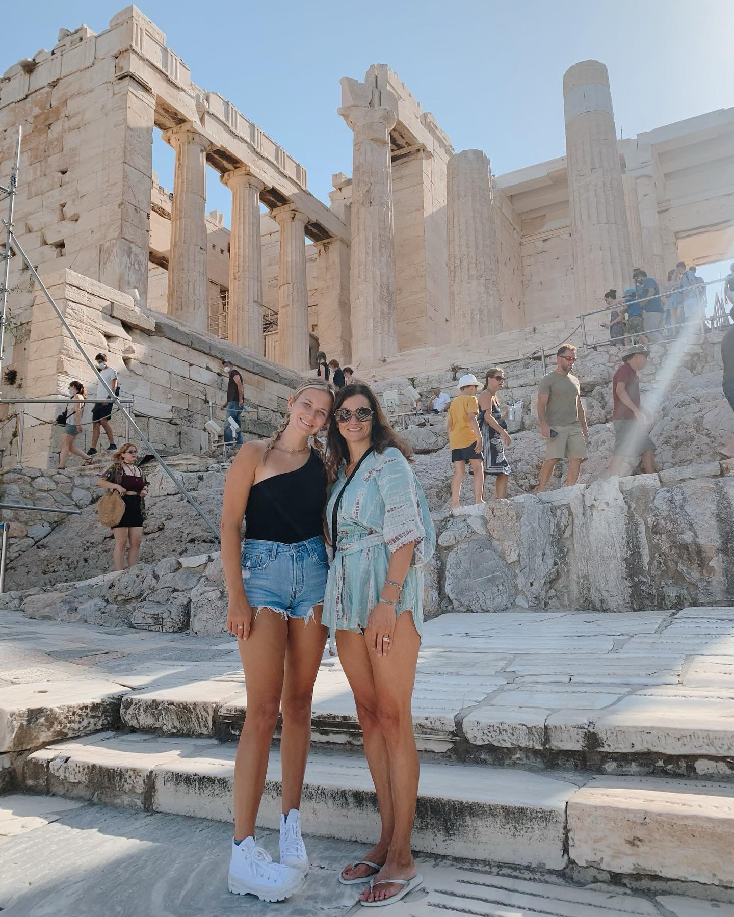 Chloe (left) and Angie (right) in Athens, Greece